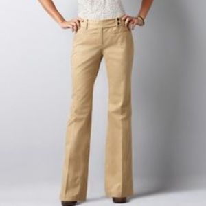 Ann Taylor grey wide leg cotton pants